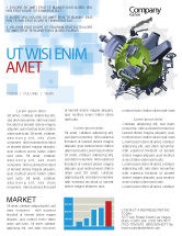 Utilities/Industrial: Modello Newsletter - Controllo dell'inquinamento #07574