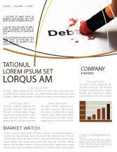 Financial/Accounting: Modèle de Newsletter de liquidation de la dette #07587
