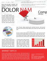 Consulting: Pie Chart Sector Carried By Man Newsletter Template #07619