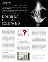 Religious/Spiritual: Modèle de Newsletter de atteindre les mains #07634