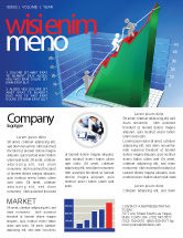 Business Concepts: Modèle de Newsletter de augmentation des taux d'histogramme 3d #07652