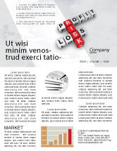 Financial/Accounting: Profit and Risk Newsletter Template #07669
