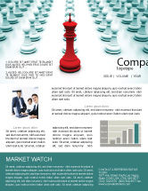 Education & Training: Chess King Ready To Fight Newsletter Template #07712