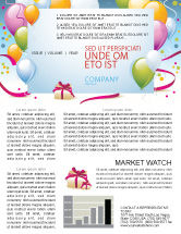 Holiday/Special Occasion: Greeting Card Newsletter Template #07775