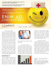 Medical: Doctor Emoticon Newsletter Template #07777