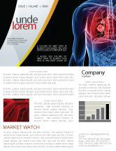 Medical: Lung Cancer Newsletter Template #08239