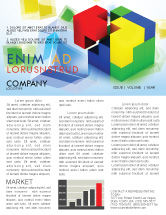 Business Concepts: Fitting Pieces Newsletter Template #08326