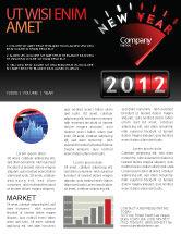 Business: N Yr Speedometer Newsletter Template #08353