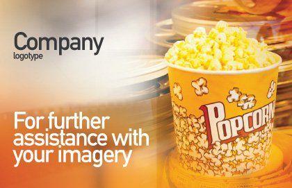 Popcorn Postcard Template, Outer Page, 00962, Art & Entertainment — PoweredTemplate.com