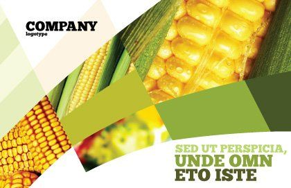 Maize Postcard Template, Outer Page, 00973, Food & Beverage — PoweredTemplate.com