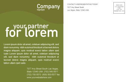 Ball Lacing Postcard Template, Inner Page, 01254, Sports — PoweredTemplate.com