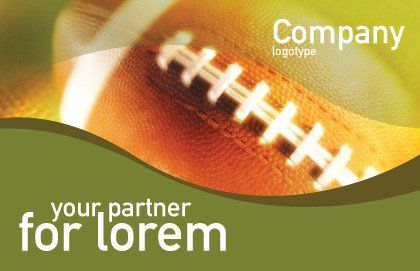 Ball Lacing Postcard Template, Outer Page, 01254, Sports — PoweredTemplate.com