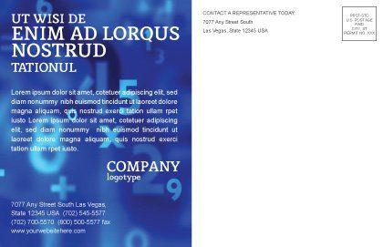 Higher Mathematics Postcard Template, Inner Page, 01343, Education & Training — PoweredTemplate.com