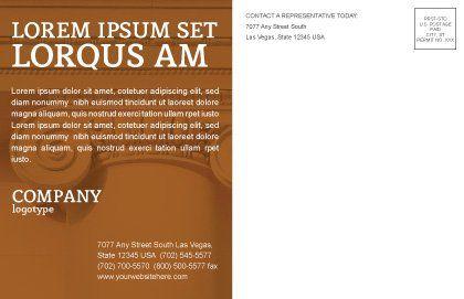 Column Postcard Template, Inner Page, 01393, Art & Entertainment — PoweredTemplate.com