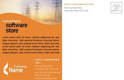 Power Line Postcard Template, Inner Page, 01638, Utilities/Industrial — PoweredTemplate.com