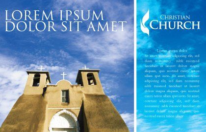 San Francisco de Asis Mission Church Postcard Template, Outer Page, 01655, Religious/Spiritual — PoweredTemplate.com