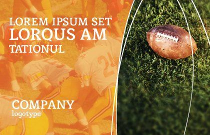American Football Play Off Postcard Template, Outer Page, 01674, Sports — PoweredTemplate.com