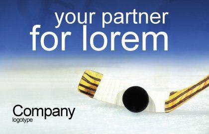 Hockey Postcard Template, Outer Page, 01700, Sports — PoweredTemplate.com