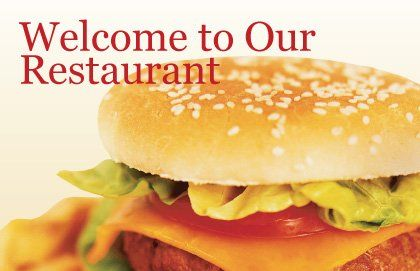 Fast Food Postcard Template, Outer Page, 01741, Food & Beverage — PoweredTemplate.com