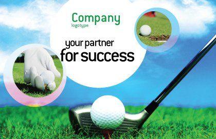 Golf Postcard Template, Outer Page, 01768, Sports — PoweredTemplate.com