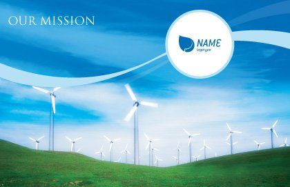 Wind Energy Postcard Template Outer Page