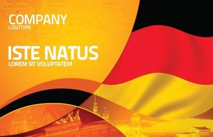German Flag Postcard Template, Outer Page, 01837, Flags/International — PoweredTemplate.com