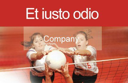 Volleyball Postcard Template, Outer Page, 01862, Sports — PoweredTemplate.com