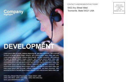 Driving Safety Postcard Template Inner Page
