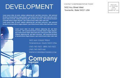 Business Analyst At Work Postcard Template, Inner Page, 01990, Business — PoweredTemplate.com