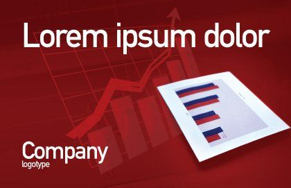 Red Histogram Postcard Template, Outer Page, 01994, Financial/Accounting — PoweredTemplate.com