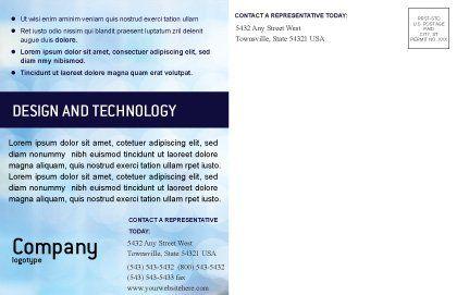 Modèle de Carte postale de présentations, Page intérieure, 02041, Éducation / Formation — PoweredTemplate.com