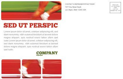 Race Postcard Template, Inner Page, 02056, Sports — PoweredTemplate.com