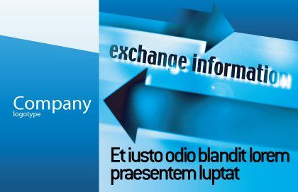 Information Exchange Postcard Template Outer Page