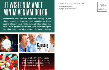 Reanimation Postcard Template, Inner Page, 02288, Medical — PoweredTemplate.com