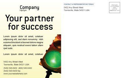 Light Signal Postcard Template, Inner Page, 02304, Business Concepts — PoweredTemplate.com