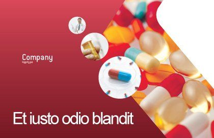 Pills In Collage Postcard Template Outer Page