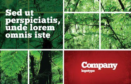 Tropical Forest Postcard Template, Outer Page, 02355, Nature & Environment — PoweredTemplate.com