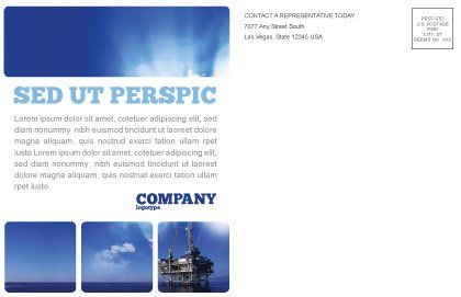 Drilling Platform Postcard Template#3