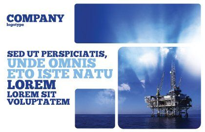 Drilling Platform Postcard Template#2