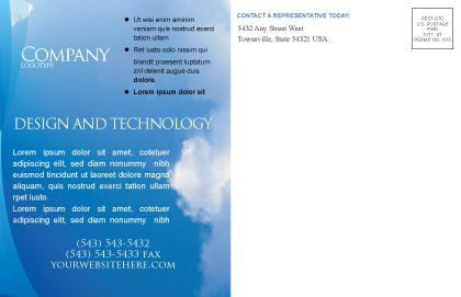 Holy Spirit Postcard Template Inner Page