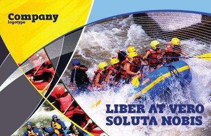 Rafting Postcard Template Outer Page