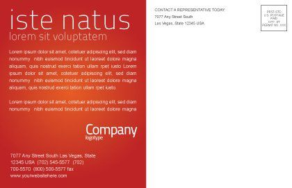 Sale Postcard Template, Inner Page, 02419, Business Concepts — PoweredTemplate.com
