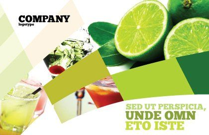 Lime Postcard Template, Outer Page, 02460, Food & Beverage — PoweredTemplate.com