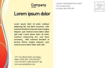 Juice Postcard Template, Inner Page, 02489, Food & Beverage — PoweredTemplate.com