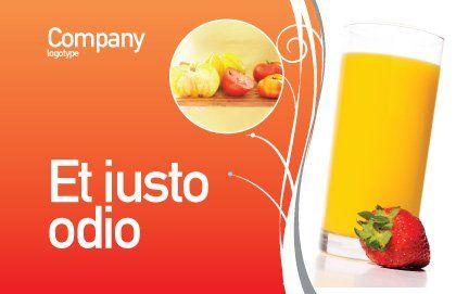 Juice Postcard Template, Outer Page, 02489, Food & Beverage — PoweredTemplate.com