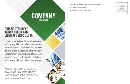 Money House Postcard Template, Inner Page, 02500, Financial/Accounting — PoweredTemplate.com