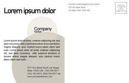 Glass Globe Postcard Template, Inner Page, 02509, Global — PoweredTemplate.com
