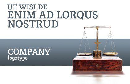Judicial Postcard Template, Outer Page, 02523, Legal — PoweredTemplate.com