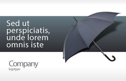 Umbrella Postcard Template, Outer Page, 02562, Business Concepts — PoweredTemplate.com