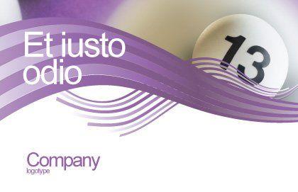 Lotto Balls Postcard Template, Outer Page, 02574, Art & Entertainment — PoweredTemplate.com